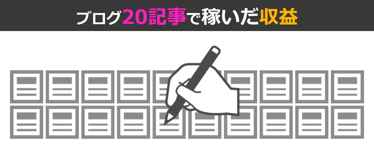 非初心者が雑記ブログ開始1年記事数20の超スローペースで得た収益